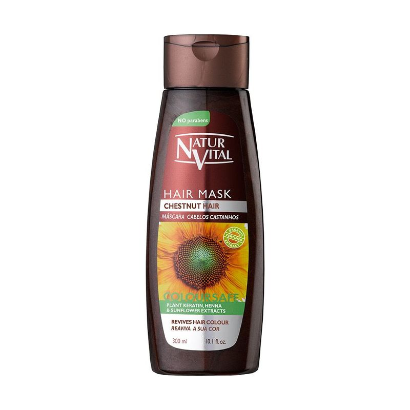 Natur Vital Colour Hair Mask Chestnut, 300ml
