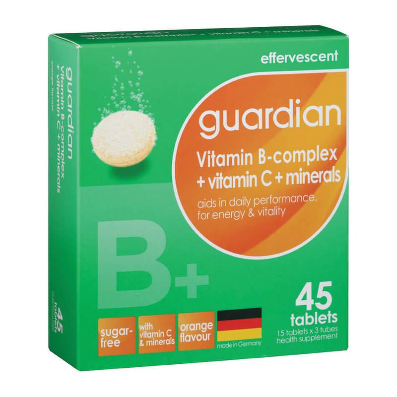 Guardian Effervescent Vitamin B-complex + Vitamin C + Minerals, 3x15 tablets