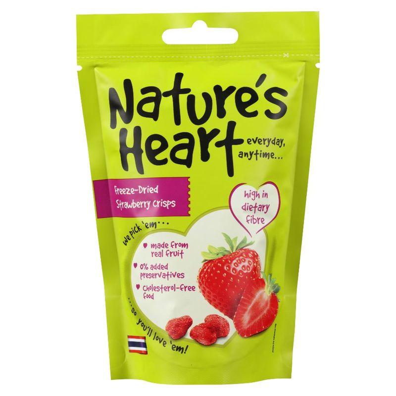 Nature's Heart Freeze-Dried Strawberry Crisps, 15g