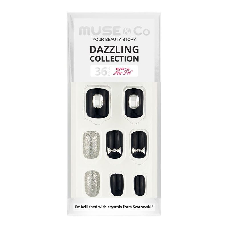 MUSE & Co Dazzling Collection 36 Nails, Timeless Bow