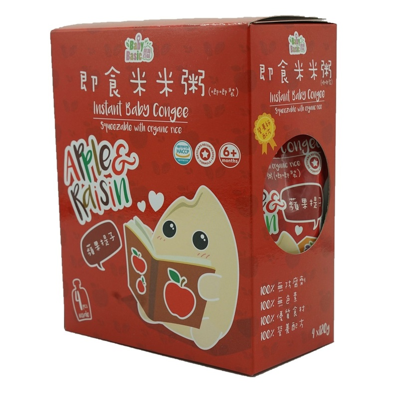 Baby Basic Congee - Squeeze Pouch(Apple & Raisin) 120g x4