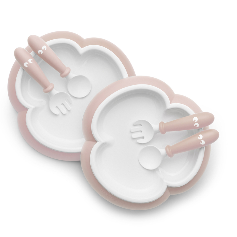 Babybjorn Baby Plate, Spoon&Fork(Powder Pink) 2pcs