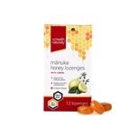 NZ Health Naturally Manuka Honey Umf 10+ Lozenges White Lemon, 12pcs