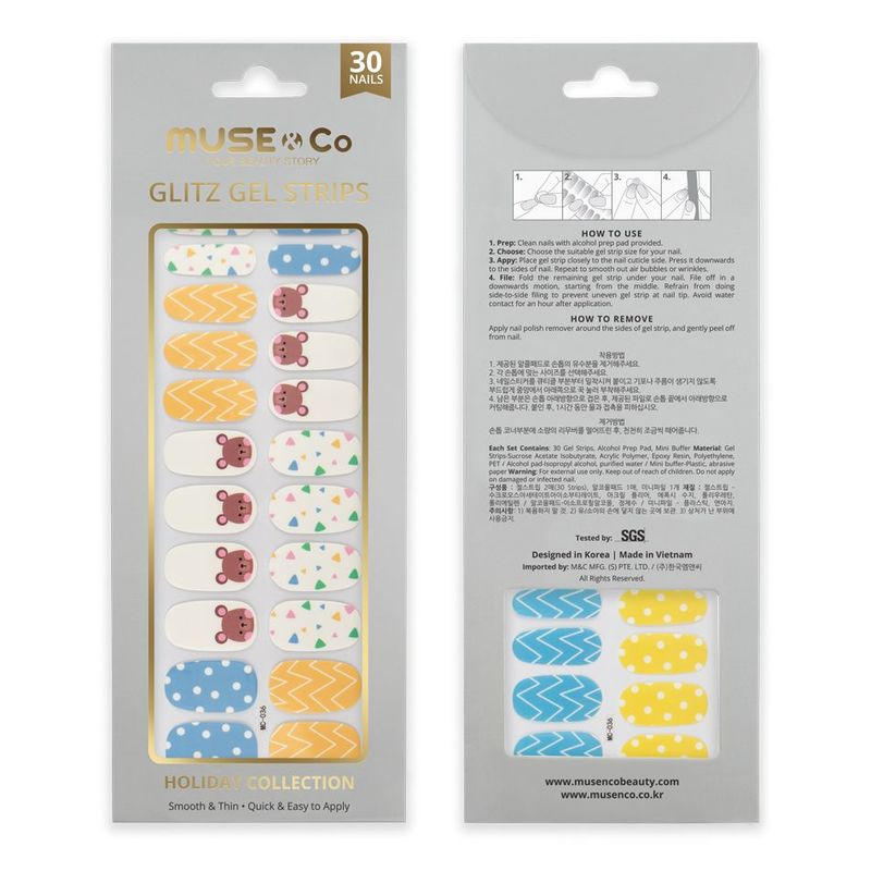 MUSE & Co - Glitz Gel Strips - Bear-y Happy