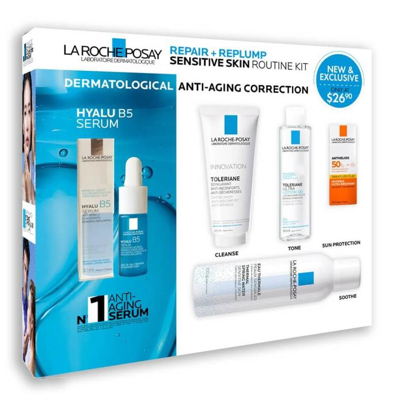 GUARDIAN EXCLUSIVE La Roche-Posay Skin Repair Set - (Repair + Replump Sensitive Skin Routine Kit)