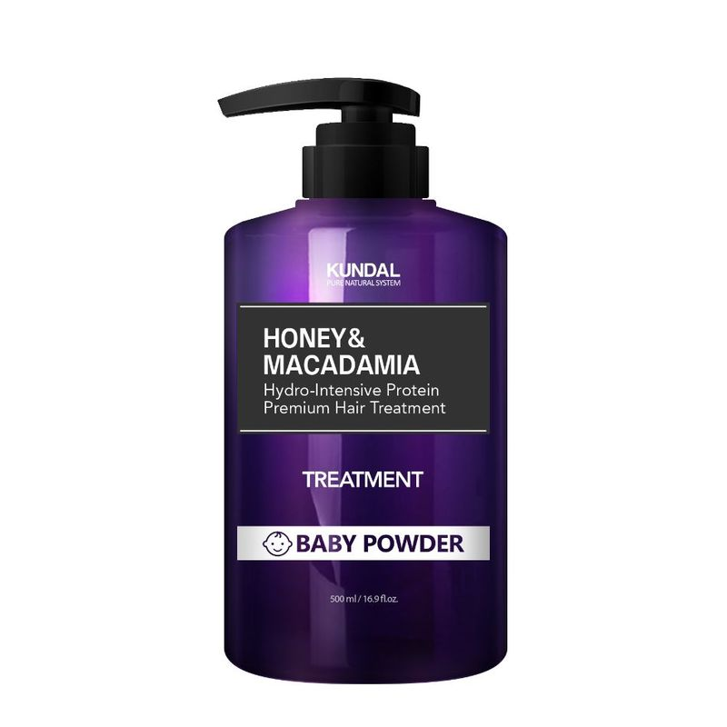 KUNDAL Honey & Macadamia Hair Treatment - Baby Powder 500ml