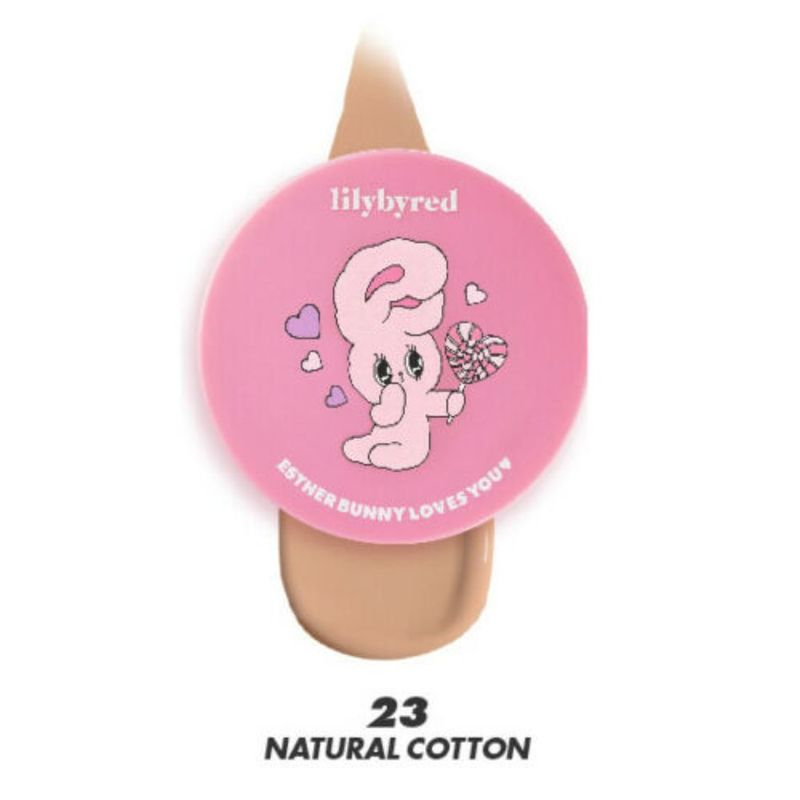 Lilybyred Cotton Blur Cushion Foundation 23 Natural Cotton -Esther Bunny Edition- 14g