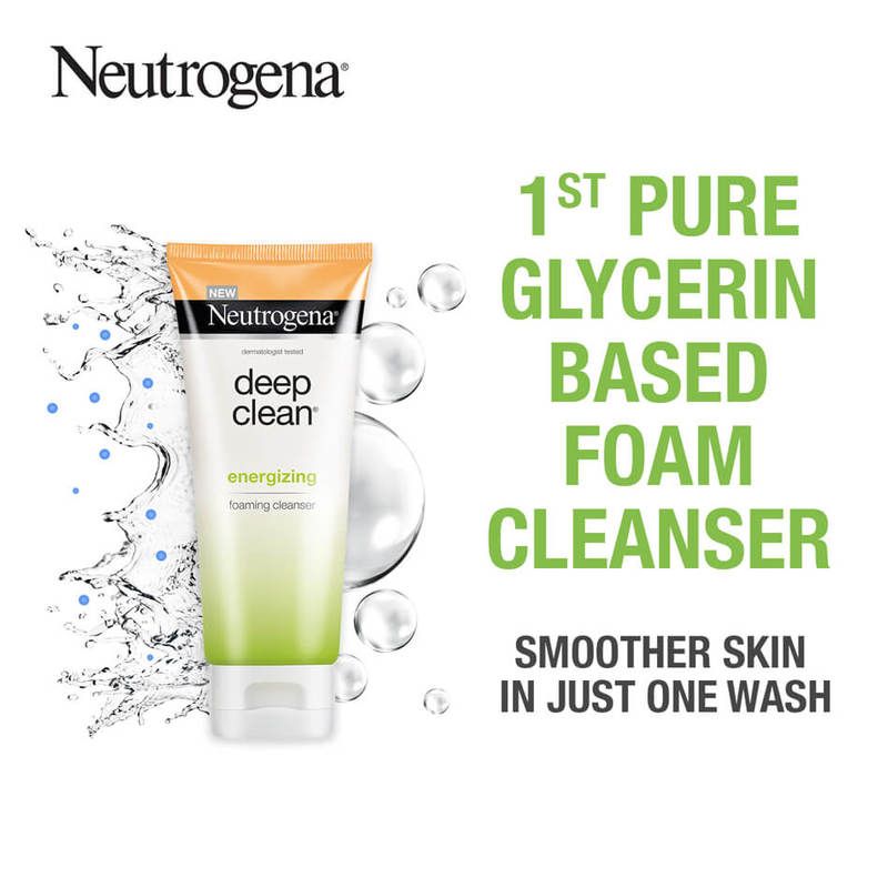 Neutrogena Deep Clean Energizing Foaming Cleanser, 100g