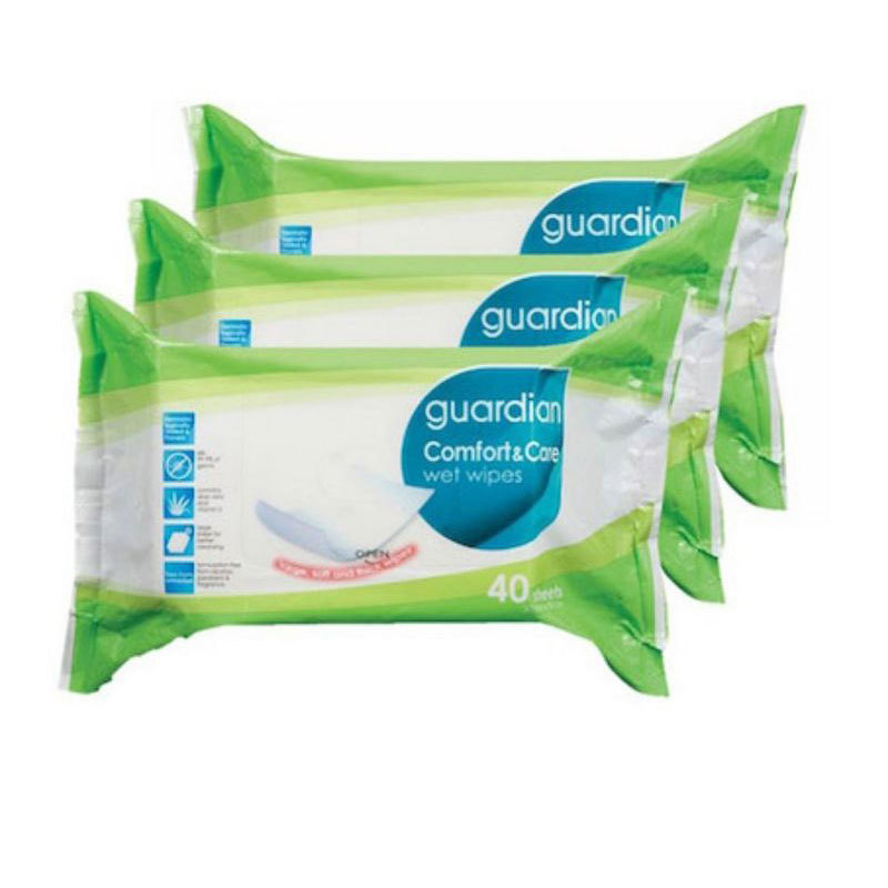 Guardian Adult Wet Wipes Triple Pack, 3x40pcs