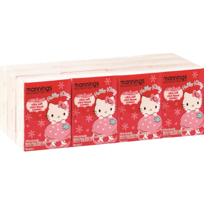 Mannings Hello Kitty Mini Tissue 12bags