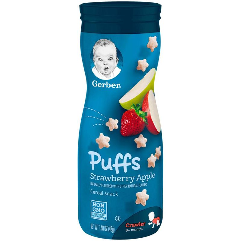 Gerber Graduates Puffs Strawberry Apple, 42g