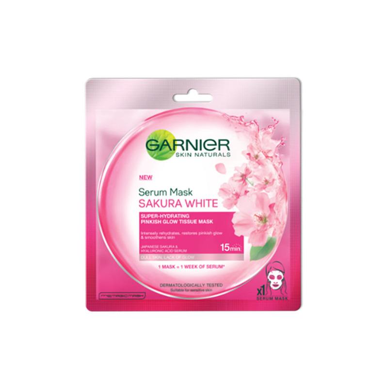 Garnier Hydra Bomb Sakura White Pinkish Glow Serum Tissue Mask