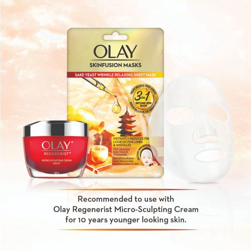 Olay Sake Yeast Wrinkle Relaxing Sheet Mask