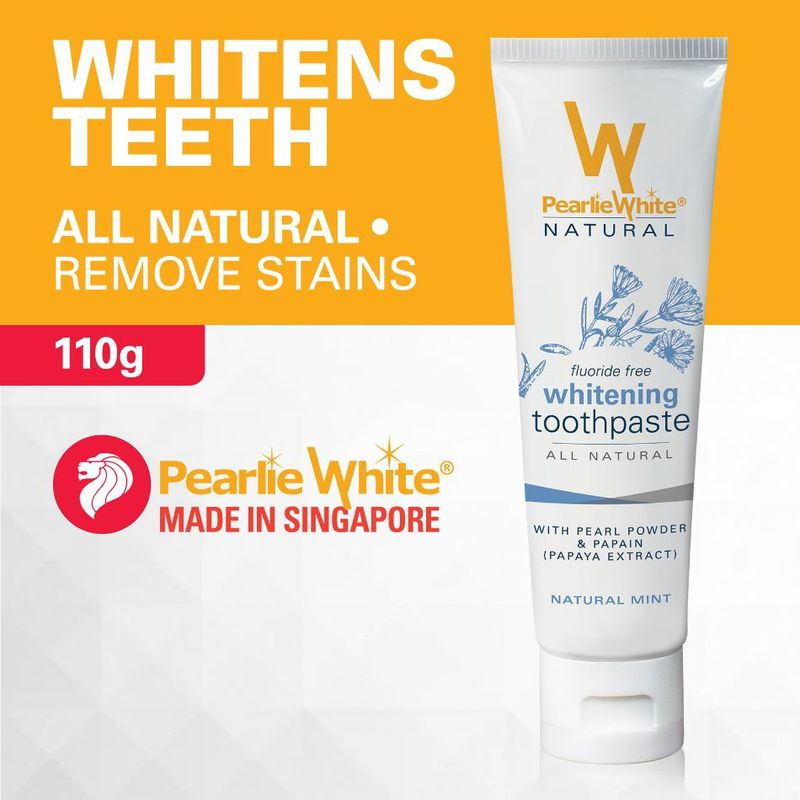 Pearlie White All Natural Whitening Toothpaste, 110g