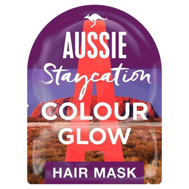 Aussie Staycation Australian Wild Peach Colour Glow Hair Mask & Cap 20 ml