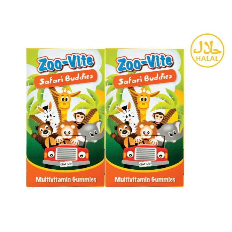 Nature's Essentials Zoo-Vite Safari Buddies Twin Pack 60's x 2