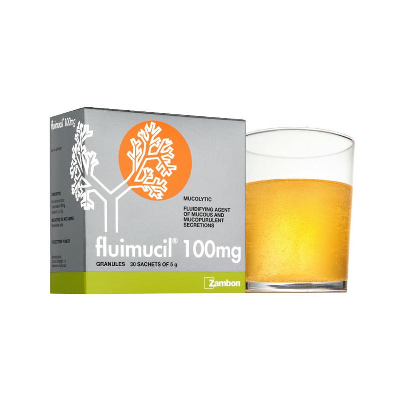 Fluimucil 100mg Effervescent Granules, 30pcs