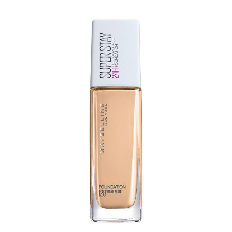 Maybelline Superstay Full Coverage Foundation Warm Nude 128 30ml