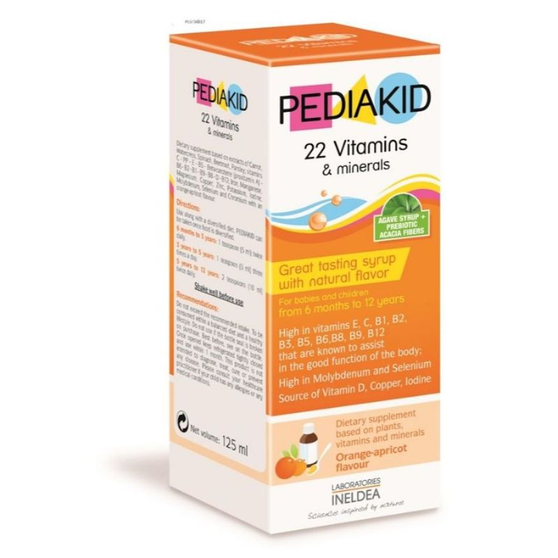 Pediakid 22 Vitamins & Minerals, 125ml