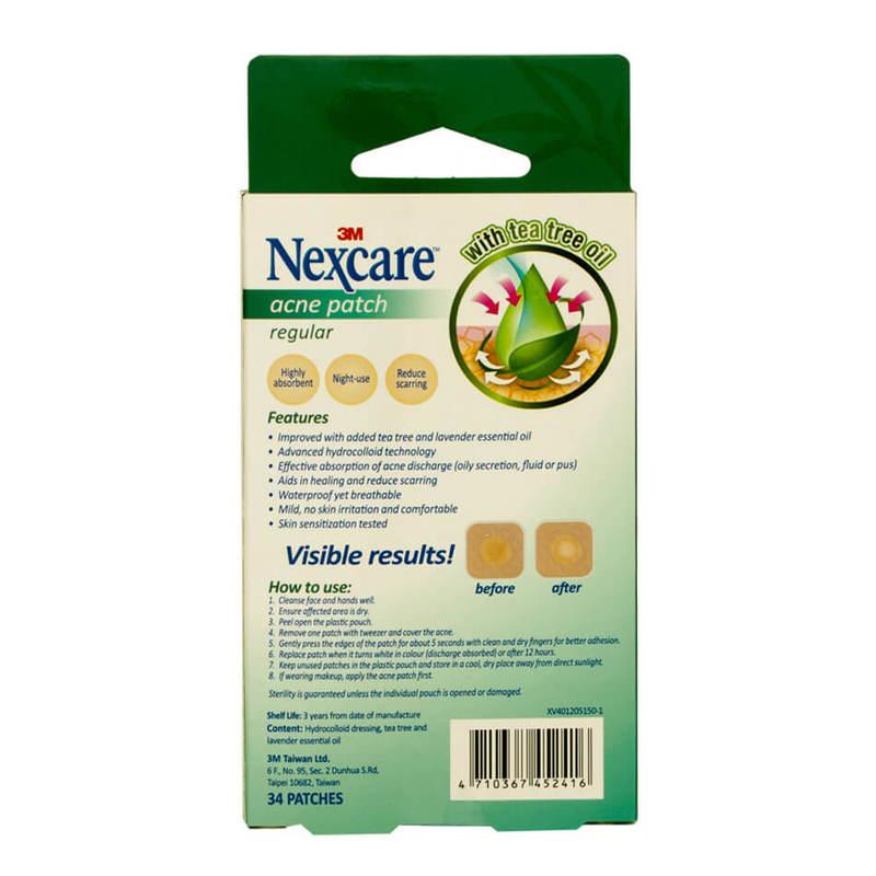 Nexcare Tea Tree Acne Patch Ladies 34s