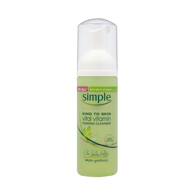 Simple Kind To Skin Vital Vitamin Foaming Cleanser, 150ml