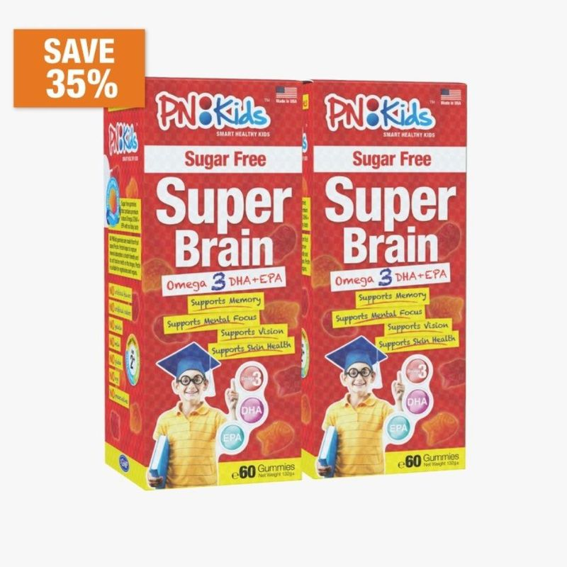 PNKids Super Brain Sugar Free Gummies Twin Pack