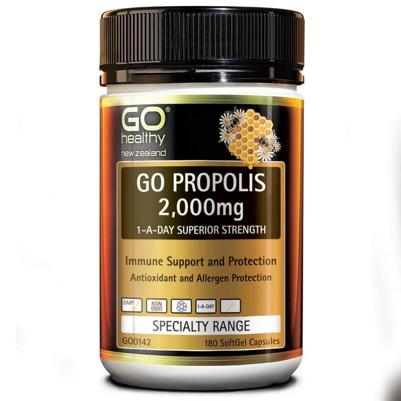 GO Healthy Propolis 2000mg, 180 capsules