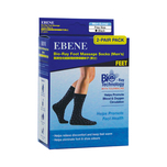 Ebene Bio-Ray Foot Massage Socks With Tourmaline Women's (Black) 2 Pair Pack Free Size