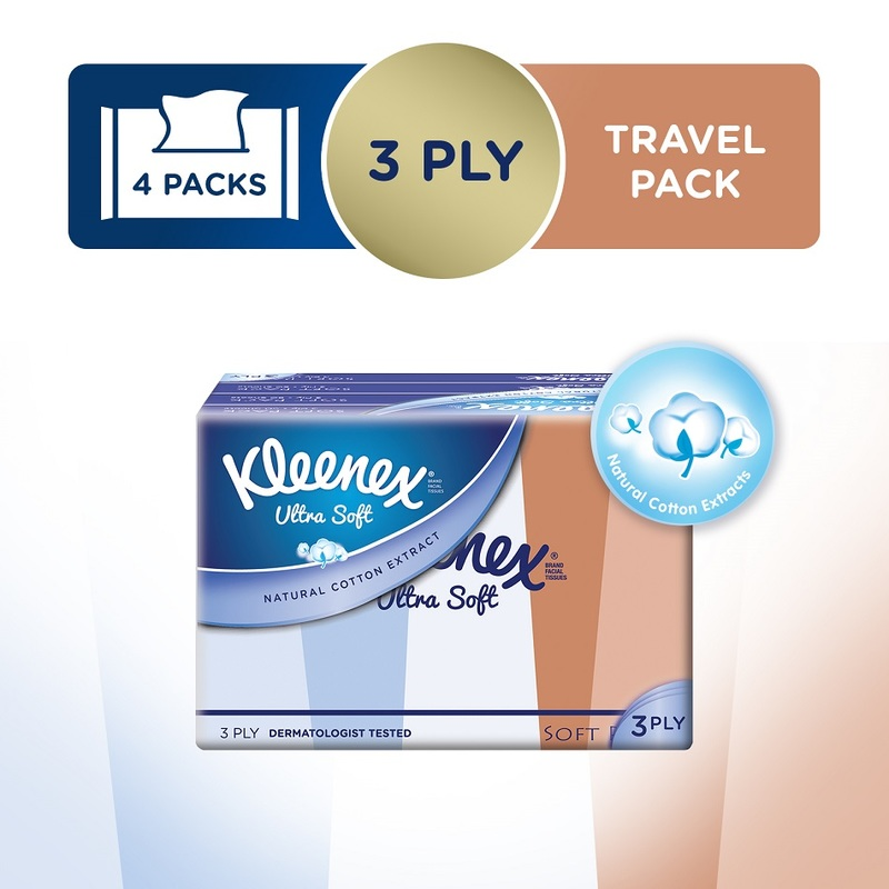 Kleenex Ultra Soft Lifestyle Soft Pack, 4x50s
