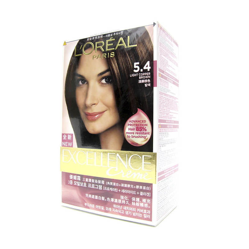 L'Oreal Paris Excellence Crème Light Copper Brown #5.4
