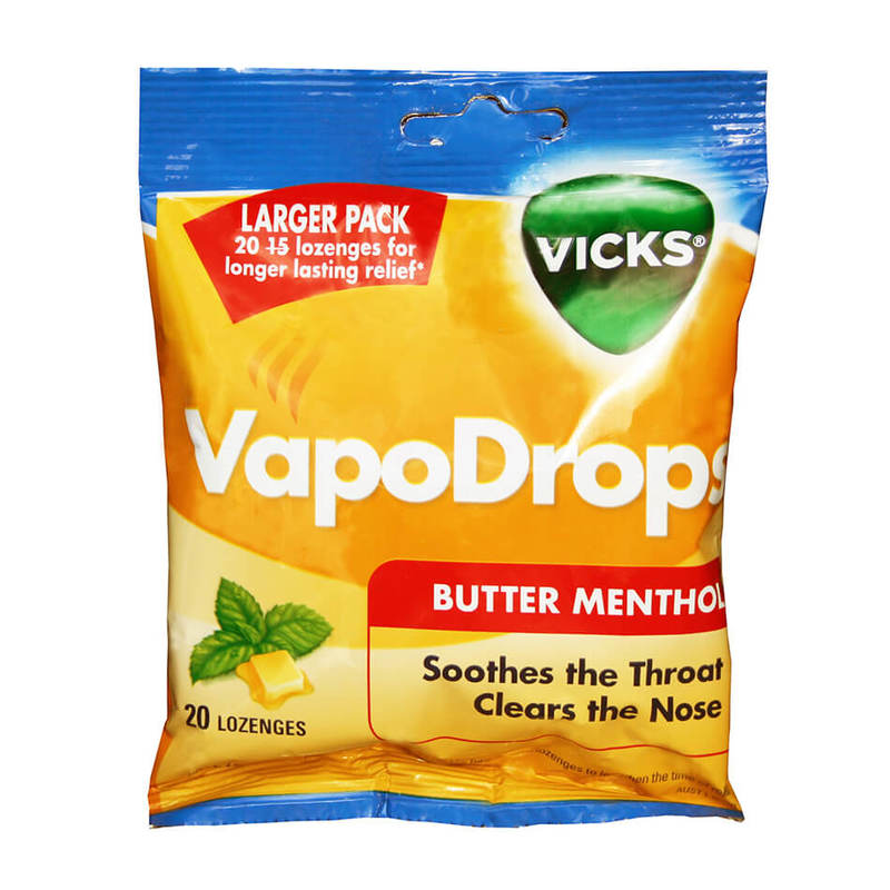 Vicks Vapodrops Butter Menthol, 70g