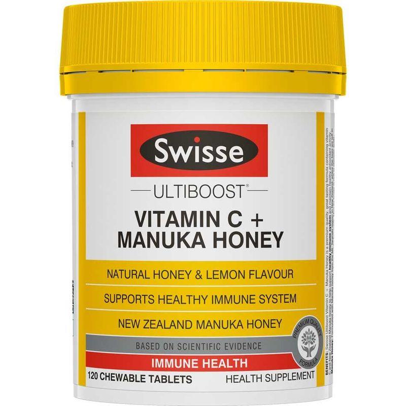 Swisse Ultiboost Vitamin C + Manuka Honey  120 chewable tablets