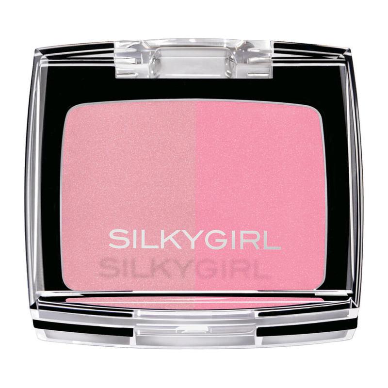SilkyGirl  Shimmer Duo Blusher - 02 Blushing Pink 4g
