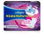 Whisper Koala Huhu Maximum All Night Super Thin Wings 42.5cm, 4pcs