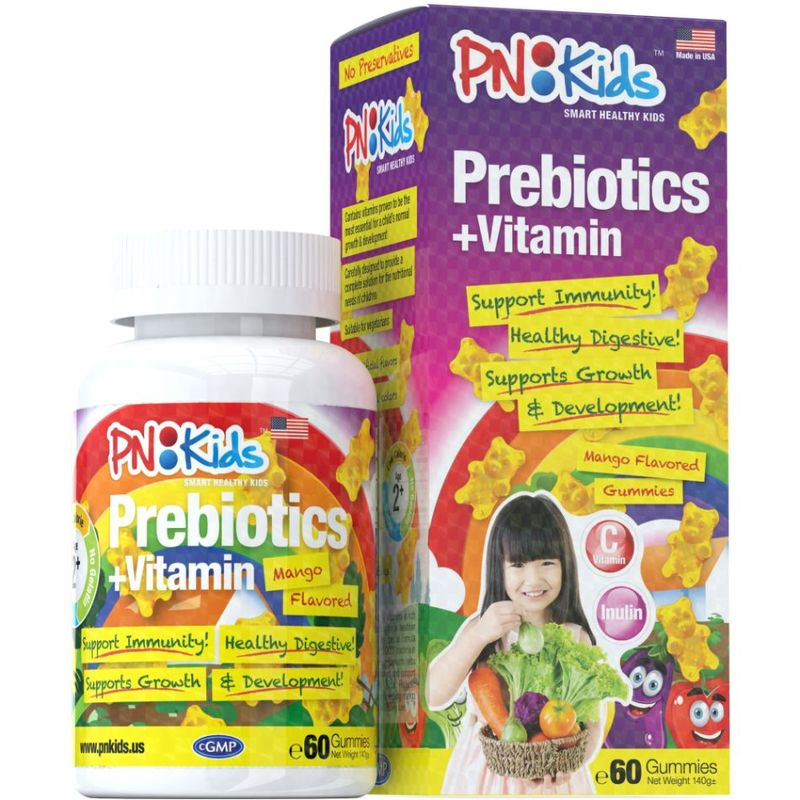 PNKids Prebiotic + Vitamins, 60 Gummies