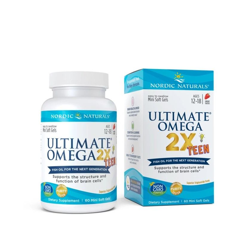 Nordic Naturals Ultimate Omega 2X TEEN, 60pcs