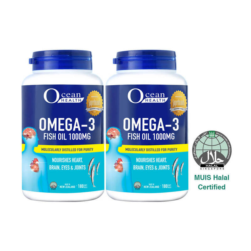 Ocean Health Omega 3 1000mg Twin Pack, 2x180 softgels