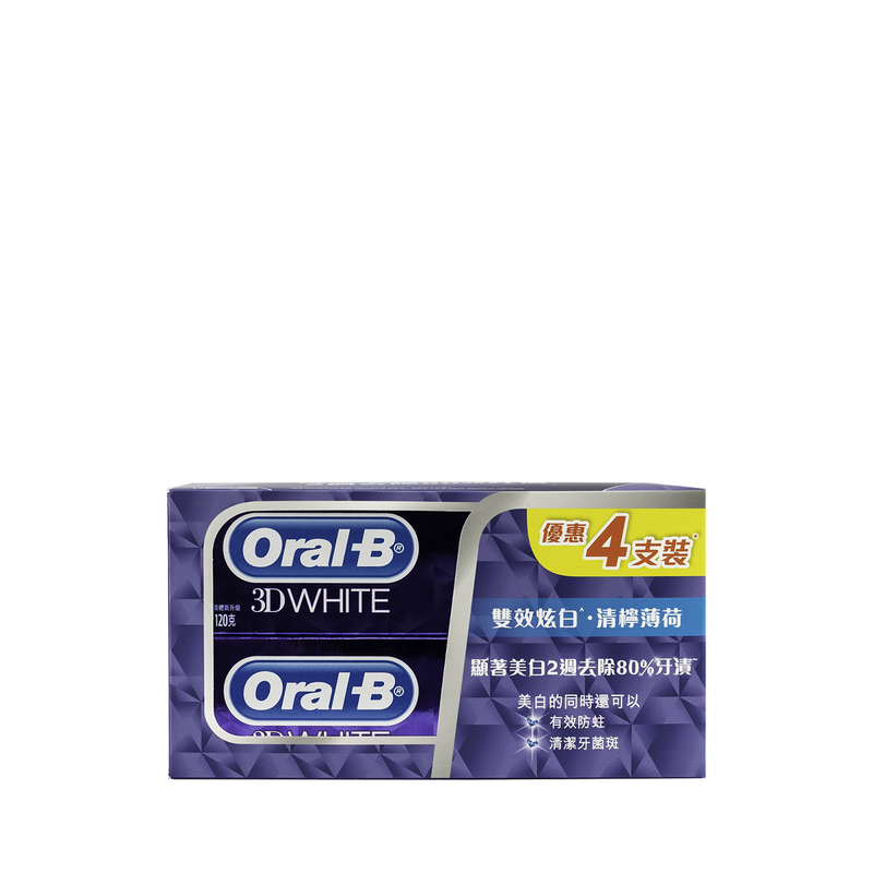 Oral B 3Dw Lime Mint 120gx4pcs