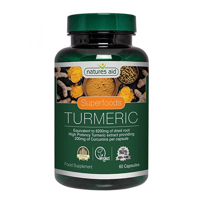 Natures Aid Superfoods Turmeric 8200mg, 60 caps