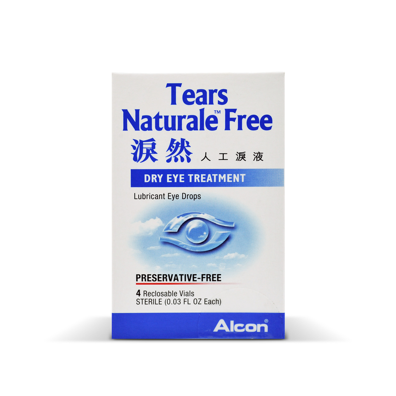 Alcon Tears Naturale Eye Drops Free Preservetive-free 4 Vials