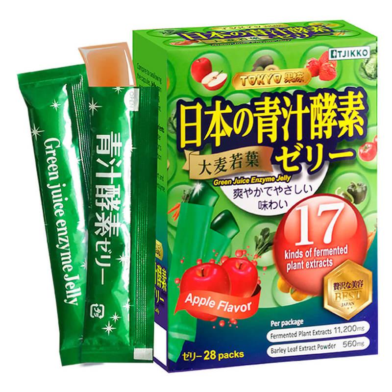 Tokyo Jelly Green Juice Detox Jelly, 28pcs
