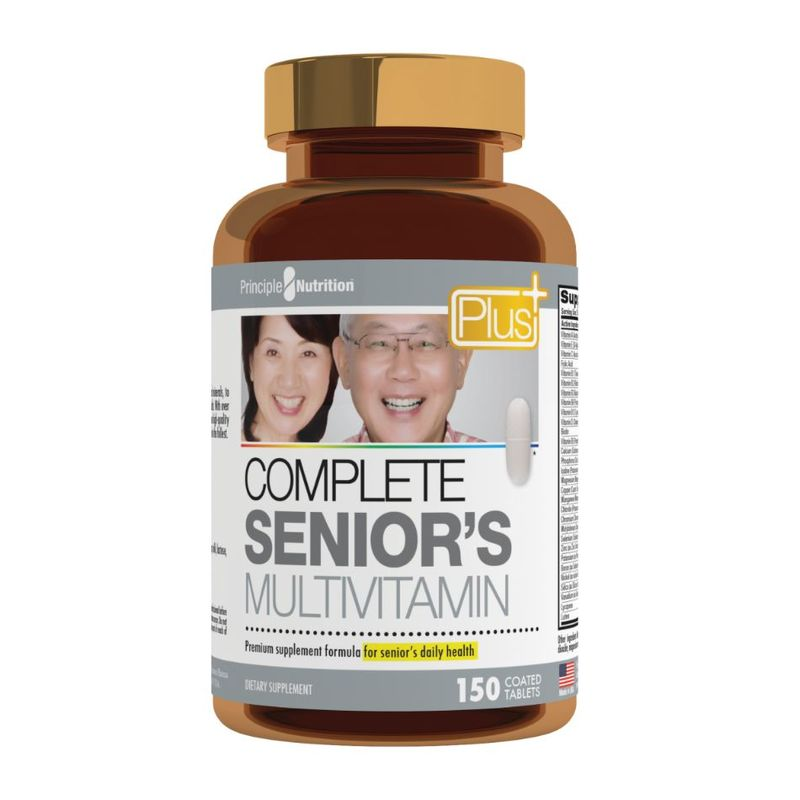 Principle Nutrition PNPlus Complete Senior's Multivitamin, 150 tablets