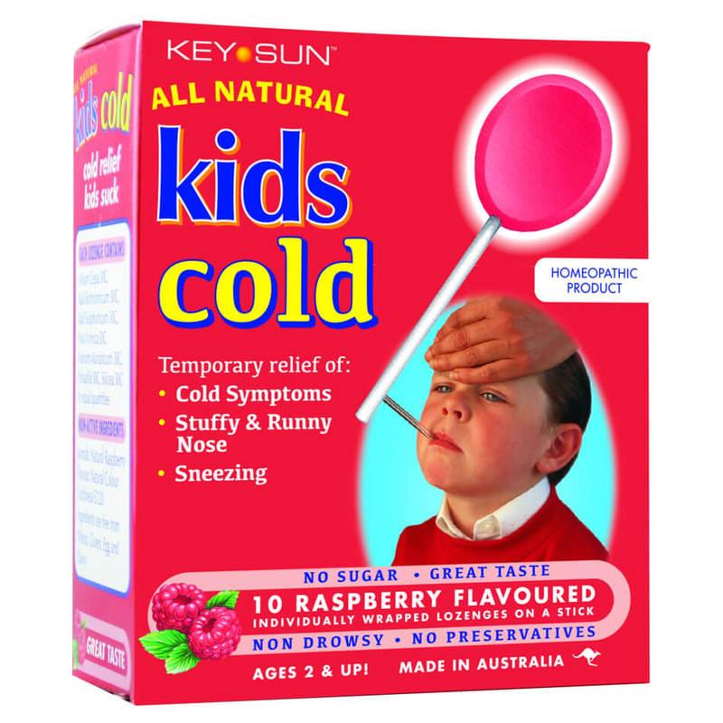 All Natural Kids Cold Lozenges, 10pcs