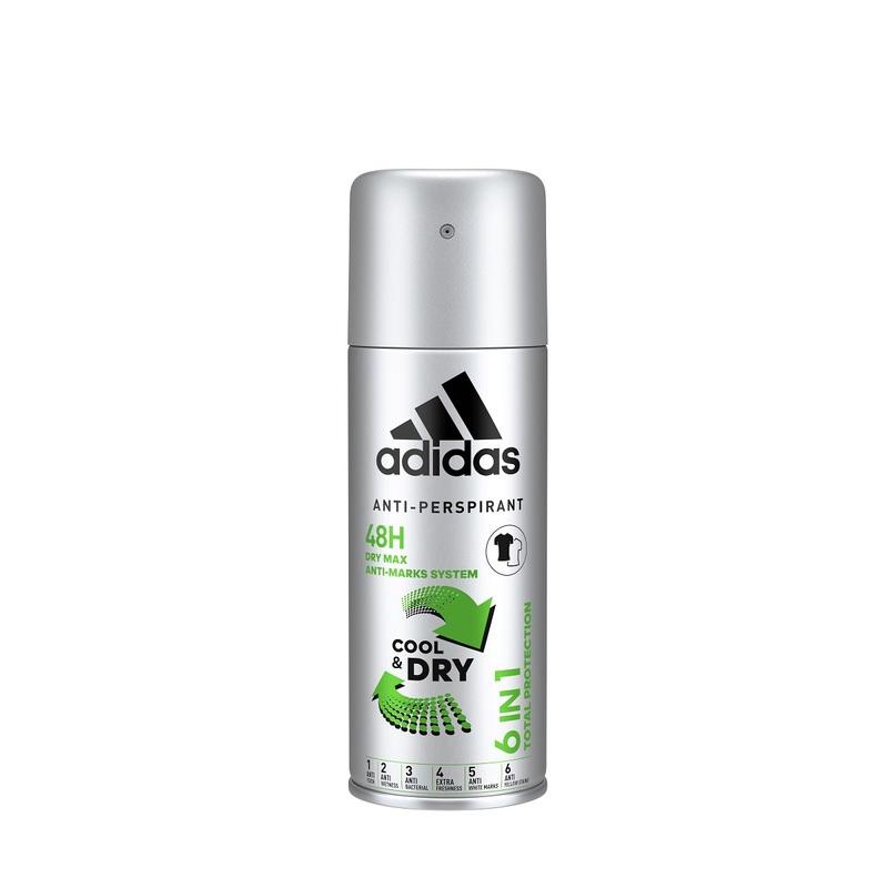 Adidas 6 In 1 Male Cool & Dry Deodorant Spray 150ML