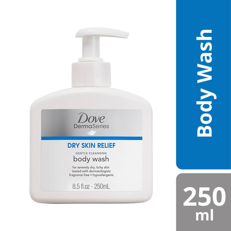 Dove DermaSeries Gentle Cleansing Body Wash, 250ml