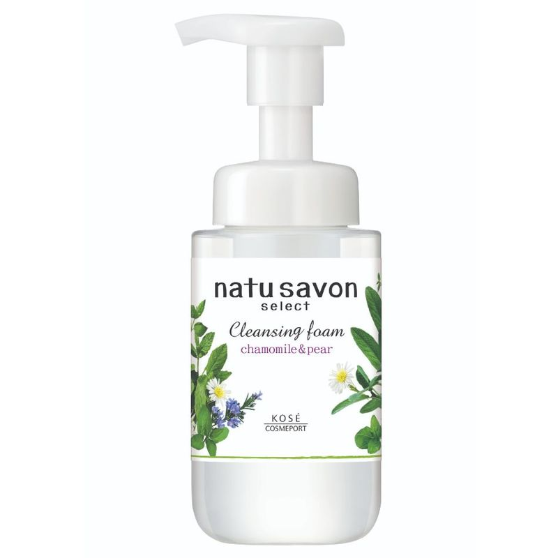 Natu Savon Select Cleansing Foam White Chamomile & Pear, 200ml