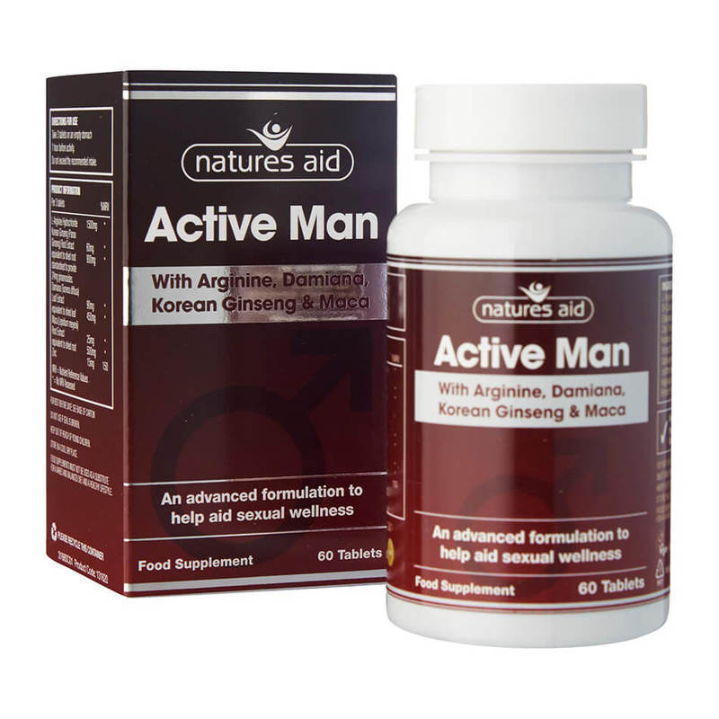 Natures Aid Active Man Food Supplement, 60 tablets