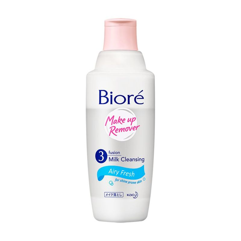 Biore 3 Fusion Milk Cleansing Makeup Remover Airy Fresh, 300ml
