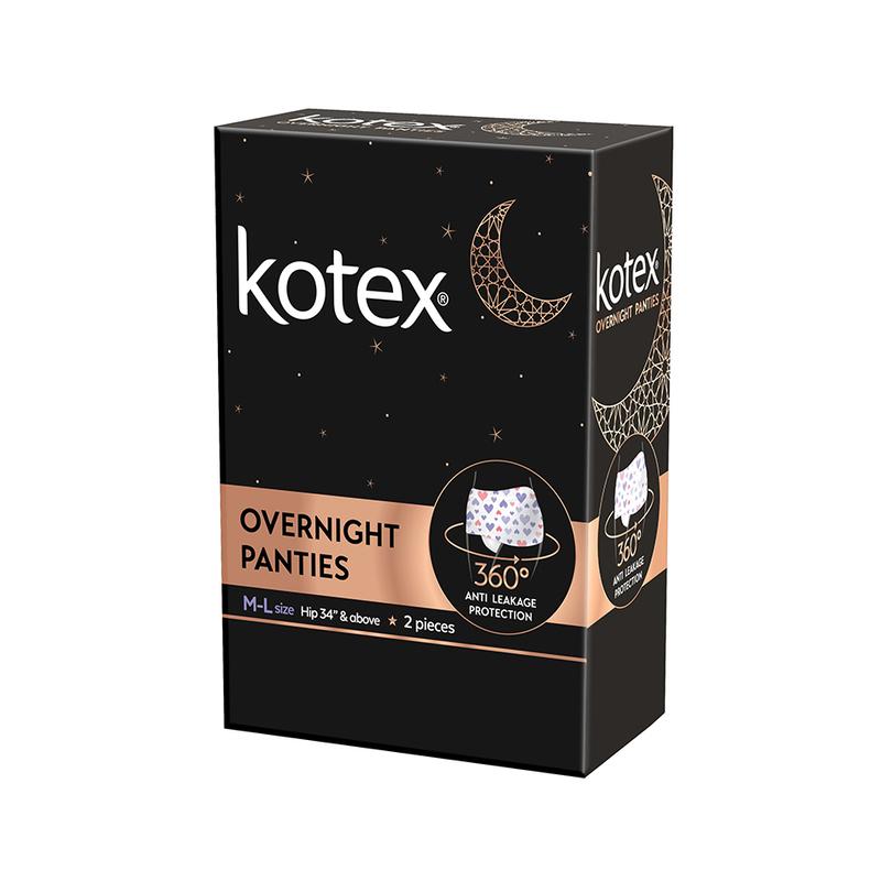 Kotex Overnight Pants M - L, 2pcs