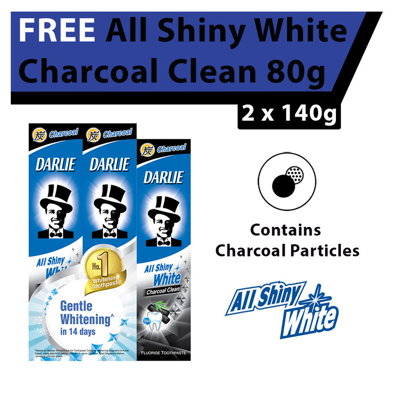 Darlie  All Shiny White Charcoal Clean Whitening Toothpaste Value Pack